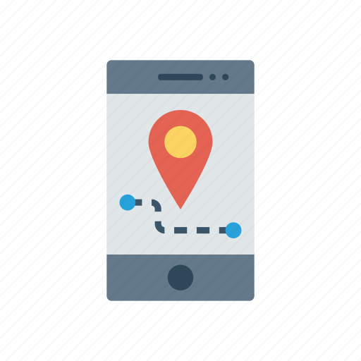 device, location, map, mobile icon
