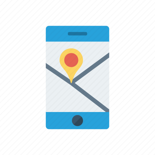 location, map, mobile, pointer icon