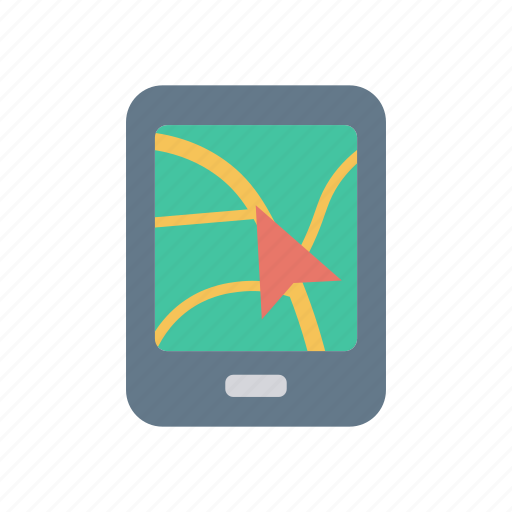 map, marker, mobile, pointer icon