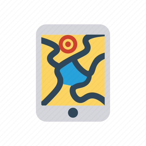location, map, mobile, tracking icon
