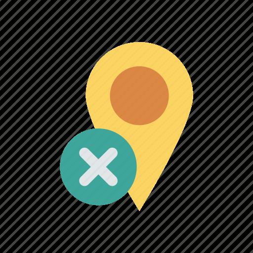 delete, location, pin, remove icon