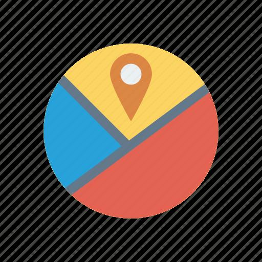 gps, pin, pointer, tracking icon