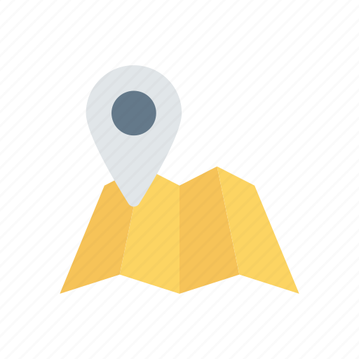 map, pin, pointer, tracking icon