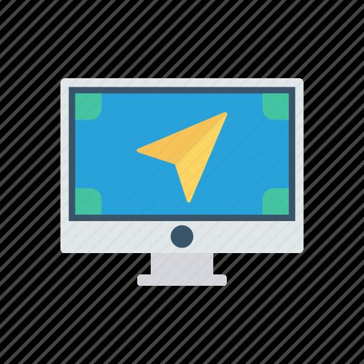 display, monitor, screen, send icon