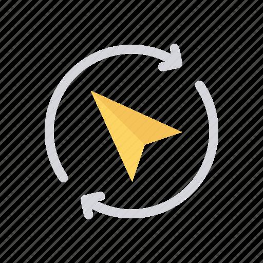 direction, navigation, north, send icon