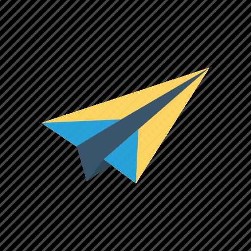 interface, paper, plane, send icon