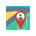 location, marker, pin, user icon