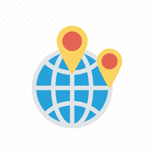 global, location, map, world icon