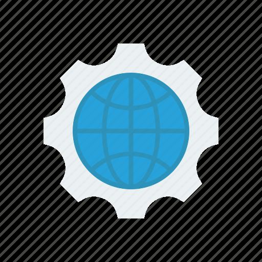 configuration, globe, setting, world icon