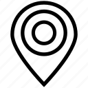 circle map pin, gps, location, locator, map, navigation, pin