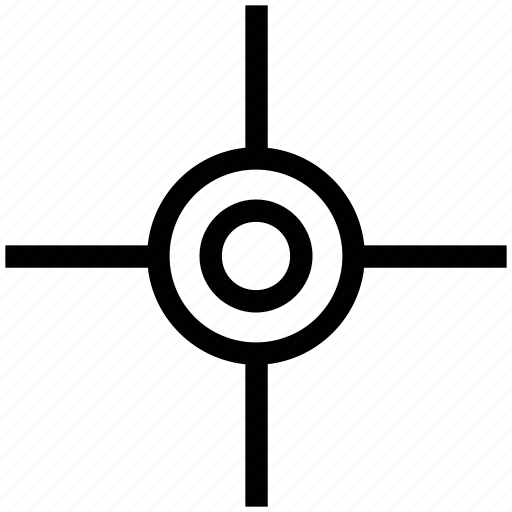 crosshair, crosshair reticle, point, reticle, target icon