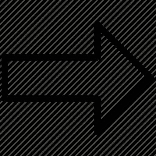arrow, direction, direction arrow, right, right arrow icon