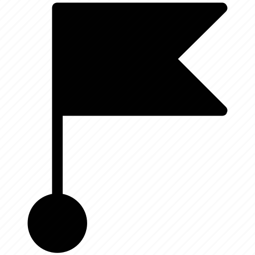 destination flag, ensign, flag, location flag, triangle flag icon