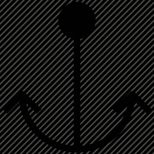 anchor, seashore, seaside, waterside sign icon