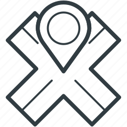 exact location, location, map pin, pointing placeholder, road location icon