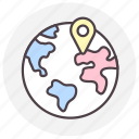globe, gps, location, navigation icon