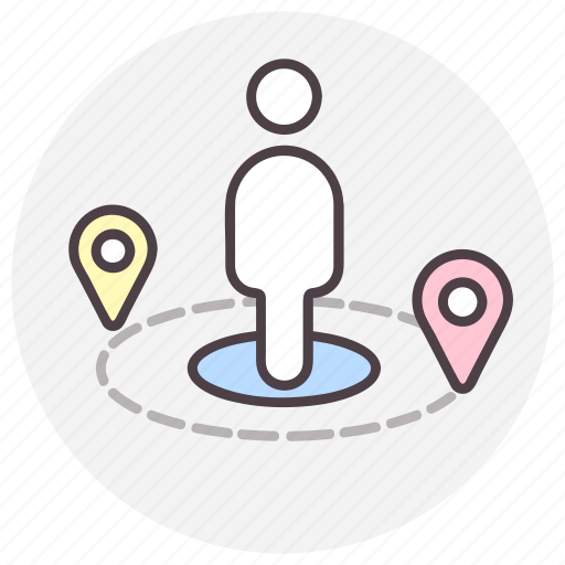 location, map, navigation, position icon