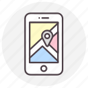google maps, gps, location, navigation icon