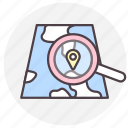 gps, location, map, navigation, search icon