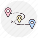 destination, gps, location, navigation icon
