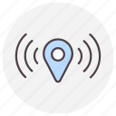 gps, location, navigation, signal icon
