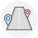 gps, location, navigation, road icon