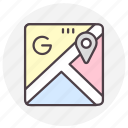 google maps, location, map, navigation icon