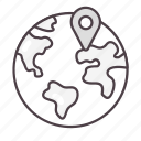 global, globe, gps, location, navigation icon
