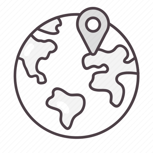global, globe, gps, location, navigation icon