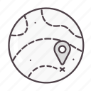 globe, gps, location, map, navigation icon