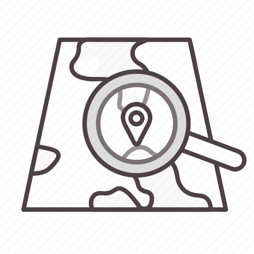 find, gps, location, map, navigation, search icon
