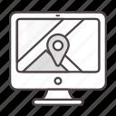 google maps, computer, navigation, location
