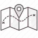 destination, direction, location, map, navigation icon