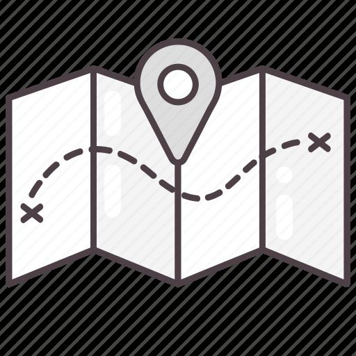 destination, direction, location, map, navigation icon
