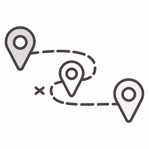destination, direction, gps, location, navigation icon