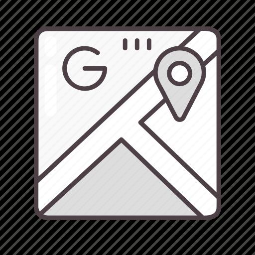 google maps, gps, location, navigation icon