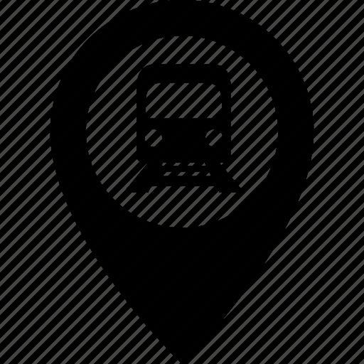 adress, destination, location, map, pin, subway, train icon