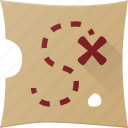 map, treasure icon