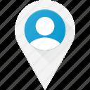 location, user icon