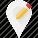 edit, geolocation, location, map, pin icon