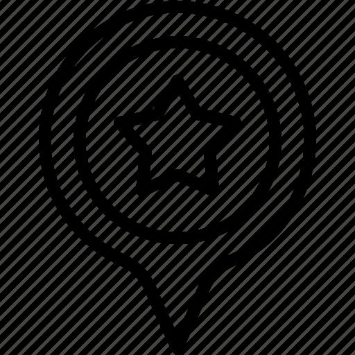 gps, location, map, marker, navigation, pin, star icon