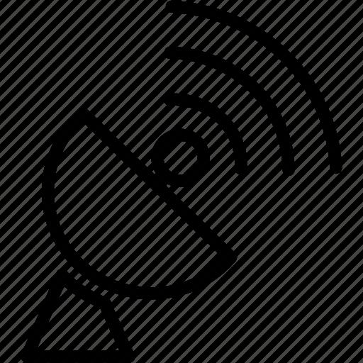 antenna, dish, radio, satellite, space, technology, wireless icon