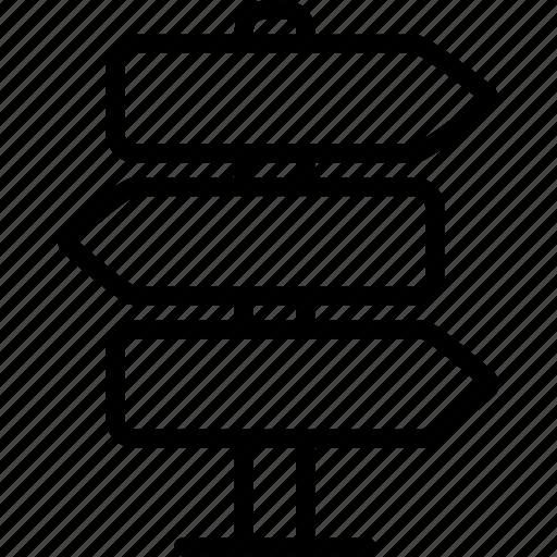 arrow, arrows, board, direction, navigation, sign icon