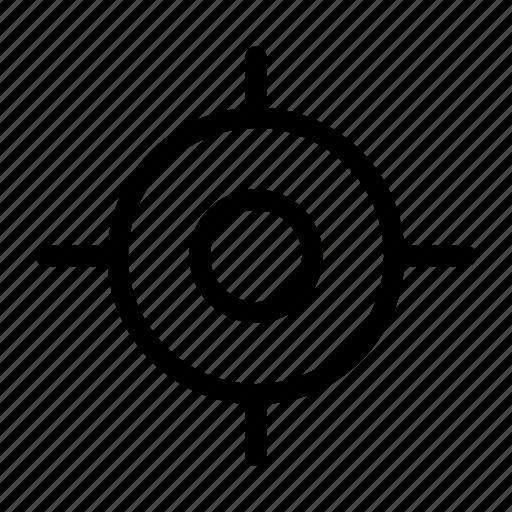 crosshair, location, map, map pin, navigation, pin, plan icon