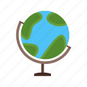 map, globe, ocean, planet, sphere, earth, world icon