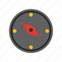 direction, point, navigate, tool, measure, equipment, compass icon