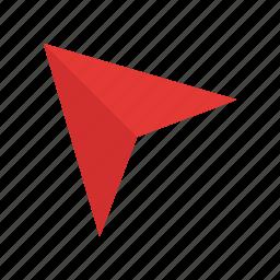 arrow, location, map, marker, pin, pointer, web icon
