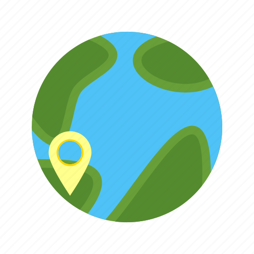 border, global, globe, locate, map, network, world icon