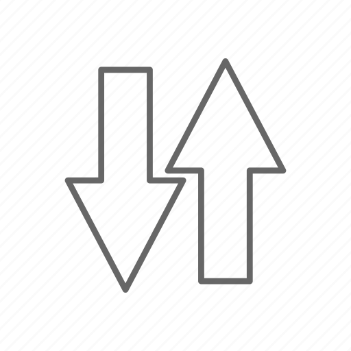 arrow, down, map, navigation, up icon