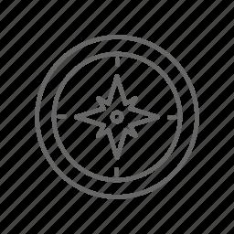 compass, map, navigation icon